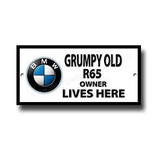 Grumpy Old BMW R65 Motorrad Owner Lives Here Metallschild