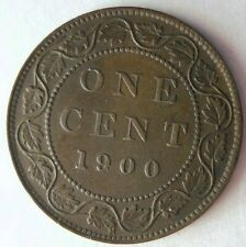 1900 CANADA CENT - AU - HIGH GRADE Scarce Coin - Lot #M22