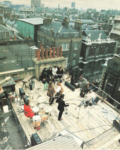 """BEATLES ABBY ROAD ROOFTOP CONCERT ROLLING STONE MAG 9""""X12"""" PRINT  PHOTO (B018)"""