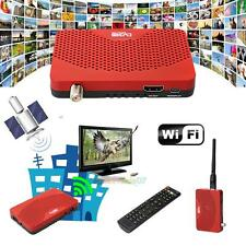 Mini DVB-S2 1080P Digital Mini TV BOX Receiver Usb + Wifi Dongle EU-PLUG