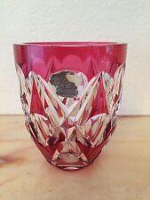 VAL SAINT-LAMBERT - Petit vase - doublé rouge - signé