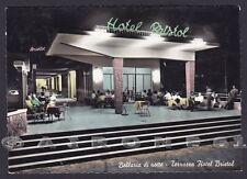 RIMINI BELLARIA IGEA MARINA 45 ALBERGO HOTEL BRISTOL NOTTURNO Cartolina v. 1959