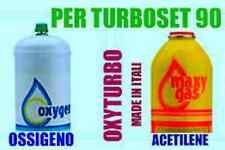 COPPIA DI BOMBOLE (1pz OSSIGENO + 1pz MAXY GAS)  per cannello TURBO SET 90