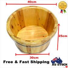 Cedar Wood Bucket Leg Foot Spa Bucket Beauty Sauna Shower Bucket Bathroom New