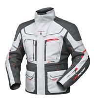 XL Mens DriRider Vortex Adventure 2 Jacket Touring Motorbike Grey Black