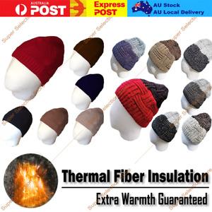 Thermal Fiber Technology BEANIE Hat Warm Winter Cap Insulation Snow Sports