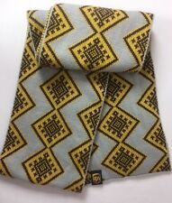UPS Scarf United Postal Service Yellow Gold Brown Gray Diamond Pattern USA Made!