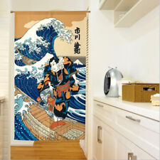 Japanese Noren Door Curtain Hanging Kitchen Room Doorway Divider Tapestry 85x150