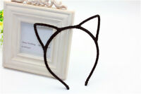 Black Ladies Girls Cute Lovely Cat Ears Simple Headband Hair Clasp Head Band