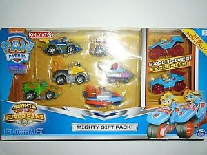 "Nickelodeon Paw Patrol Mighty Gift Pack - Super Paws Mighty Pups - 8 Pack ""NEW"""