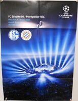 Offizielles Spielplakat + 03.10.2012 + CL + FC Schalke 04 vs. Montpellier HSC #1
