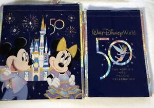 Walt Disney World 50th Anniversary Celebration Reusable Tote Bag Set S M NEW