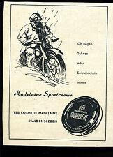 Madelaine Sportcrem--VEB Kosmetik Madelaine Haldensleben --Werbung von 1959