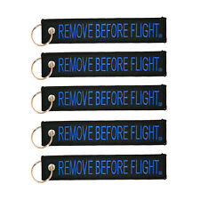 5 Pack Remove Before Flight Key Chain Black & Blue aviation truck motorcycle