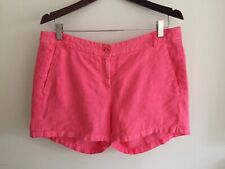 HARTFORD Coral Pink Linen Shorts Hotpants Size 4 UK 16
