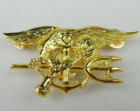 Golden US Navy SEALs Trident Badge Pin U.S. Naval Special Forces Badge-0003