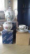 """Service à café Royal Worcester modèle """" Herbs """" 1990"""