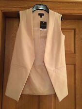 TopShop Blush Sans Manches Gilet Blazer Taille 8 NEUF
