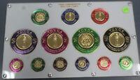 1962 Tonga Commemorative Gold Coin Stamps 13 Piece Set $1- 29 Beautiful Set