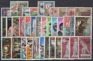 BN141419/ GABON / LOT 1968 – 1972 MINT MNH FULL SETS CV 110 $