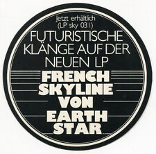 "1979 Vintage ""Earthstar"" Promo Sticker: ""French Skyline"" [In German]"