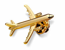 A Brand New AIRBUS A320 18k Gold Plated Necktie Tie Pin Badge