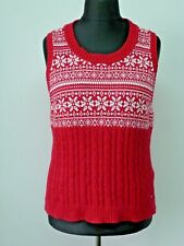 Womens Tommy Hilfiger Vest Waistcoat cotton Top Ladies Size XL printted knitted