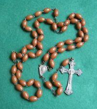 Vintage Brown Bead Rosary