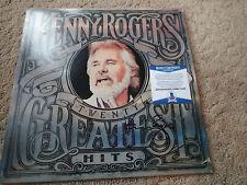 KENNY ROGERS Signed Autograph GREATEST hITS  RECORD Album BECKETT COA