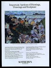 1985 Egon Schiele Sommerlandschaft 1917 painting Sotheby's vintage print ad