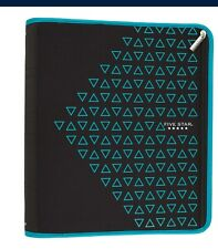 Lot Of 2 Five Star Zipper Binder 2 Inch 3 Ring Organizer Xpanzteal Triangles
