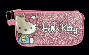 Sanrio HELLO KITTY Pink Bow 2013 Pencil Holder Case Makeup Pouch Organizer Bag