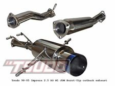 Stainless steel Tsudo Subaru Impreza RS catback exhaust for 98-05 blue tip