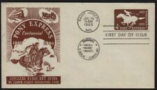 1960 Pony Express Sc U543 St. Joseph MO C of C 1st cachet BROWN