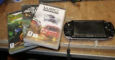 Sony PSP piano black Handheld 2001 + games , no battery or charger console