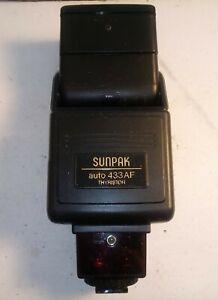 Sunpak Auto 433 AF Thyristor Flash Dedicated Type NE for Nikon AF Camera
