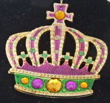 Purple Crown with Gold Jewel New Orleans Mardi Gras Ornament Tree Christmas