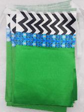 1 x 12 Dawateislami Milad Bunting polyester flags Milad, Mawlid, Milaad 3 colour