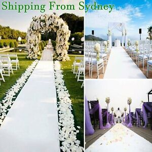 1.2M x 10M  White Carpet Aisle Runner Wedding Party Event Decoration Mats Rugs A
