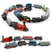 HB- KF_ 4Pcs Retro Mini Simulated Steam Train Set Pull Back Model Kids Toy Gift