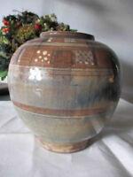 """Vase Keramik ROLF WEBER Handarbeit """"Krone"""" oder/und """"W"""" sehr aufwändig WGP"""
