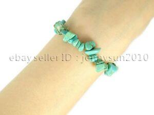 Natural Gemstone 5-8mm Chip Beads Stretchy Bracelet Reiki Chakra Fashion Jewelry