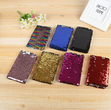 Plastic Reversible Sequined Notebook Blank Diary book Creative Paper Journal