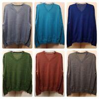 Men`s New High Street Brand Wool Blend V-Neck Jumper Size M-L-XL-2XL-3XL Sweater