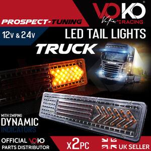 12V 24V TRUCK LED Rear Tail Lights Brake Indicator Reflectors Trailer UK VKZI10