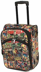 MARVELS CASE small Cabin Luggage Plus Matching Satchel BRAND NEW -COMIC AVENGERS