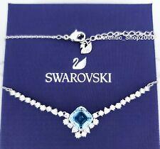 New Authentic SWAROVSKI Rhodium Aqua Sparkle Crystal Pendant Necklace 5524137