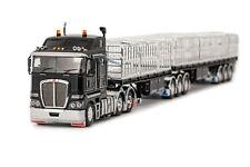 DRAKE K200 KENWORTH & MAXITRANS B/DOUBLE TRAILERS BLACK SET 1/50 SCALE DIECAST