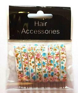 8 x Thin Flower Retro Vintage Hair Accessories Snap Hair Clips Slides Hair Grip
