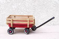 "Radio Flyer Collectible 12"" Metal Mini Red Wagon WITH RAIL GUARD"